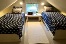 Bedroom 4 - loft with 2 x 90cm single beds.