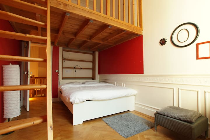 Lovely Brussels House- Rouge room-near city center