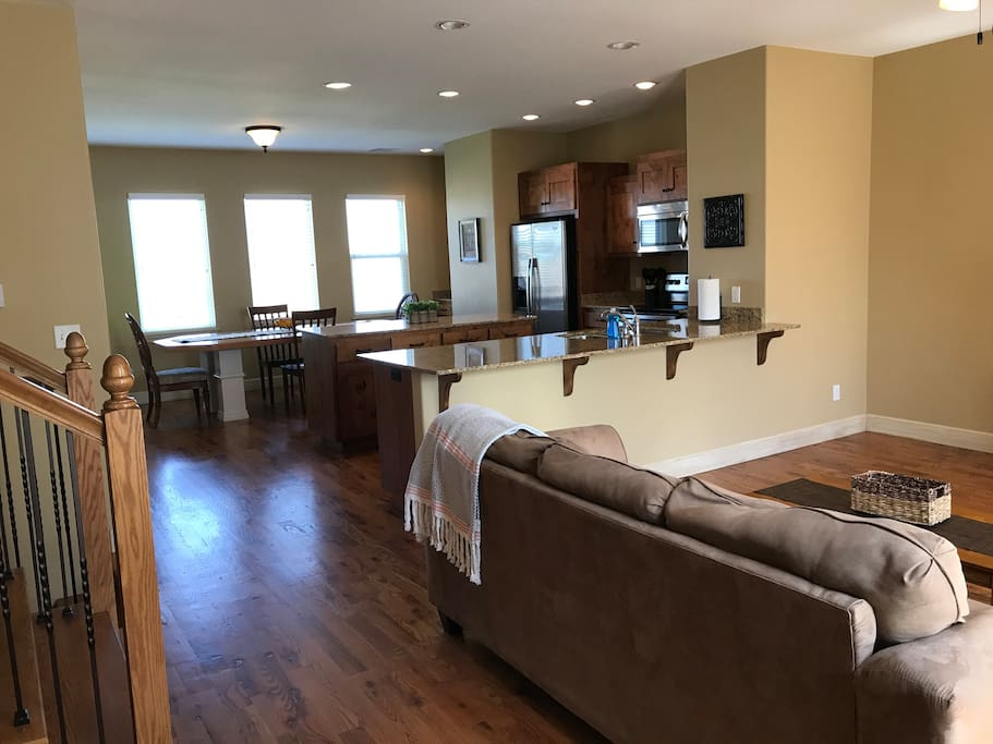 LARGE KITCHEN OPENS UP TO LIVING ROOM  2ND LEVEL