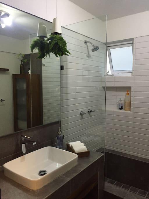 Amplio baño con tina