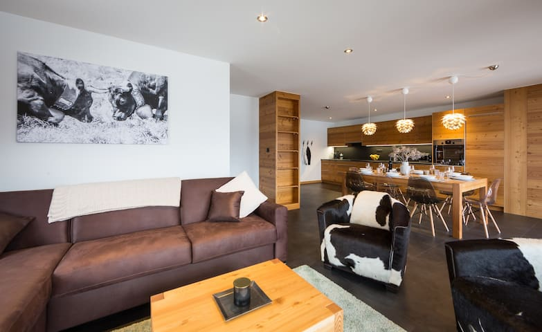 En Masse Resort: Charming apartment for 6 people with view of the Dent Blanche (001)