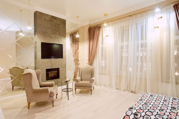 Unique studio with a fireplace - Moskva - Wohnung