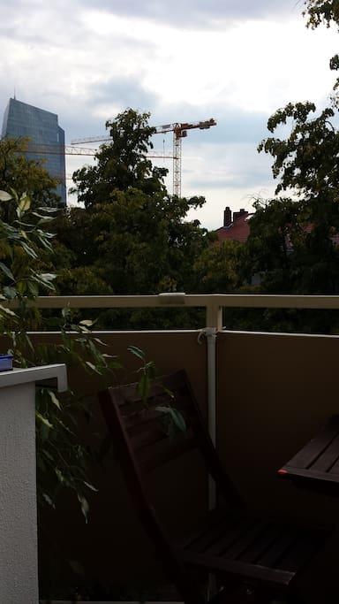 Aussicht vom Balkon auf die EZB / View from the balcony