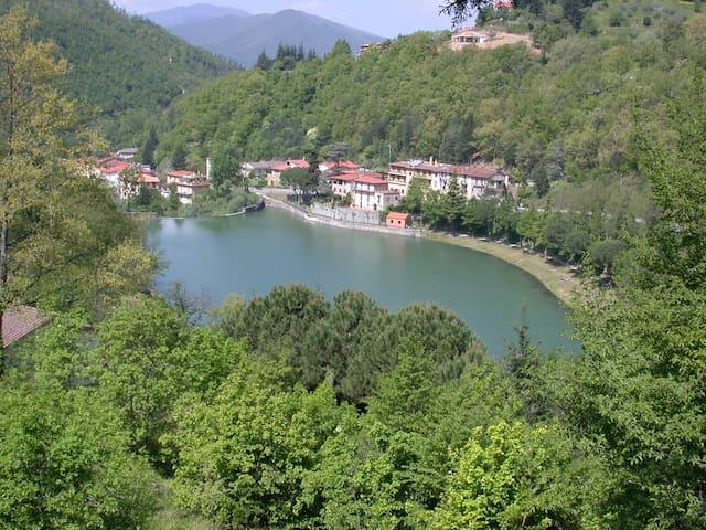 Sul lago  a 37 km. da Firenze - Londa - Appartement