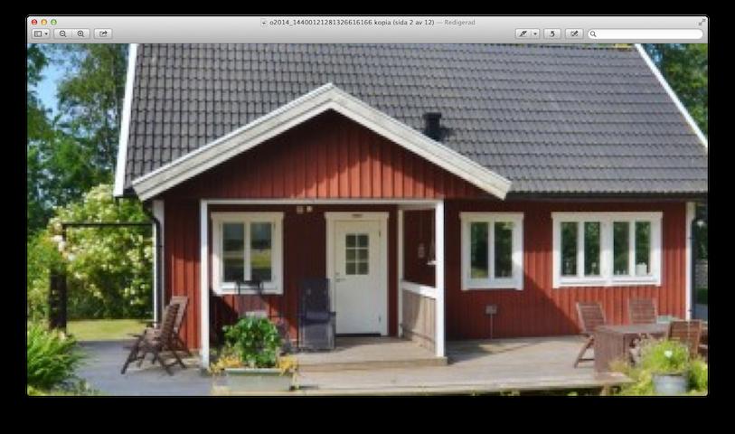 Fräscht hus i lummig trädgård - Halmstad V - บ้าน
