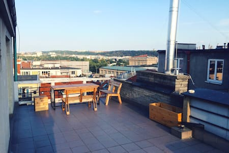Cosy studio flat with stunning TERRACE VIEW! - Praha - Lägenhet