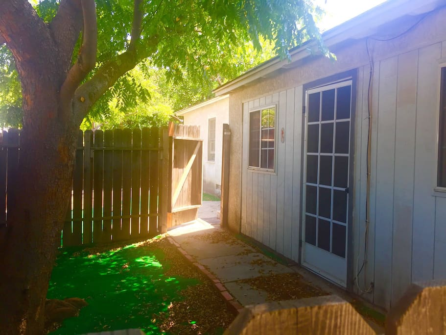 Shady Front yard area - Your private entry door.