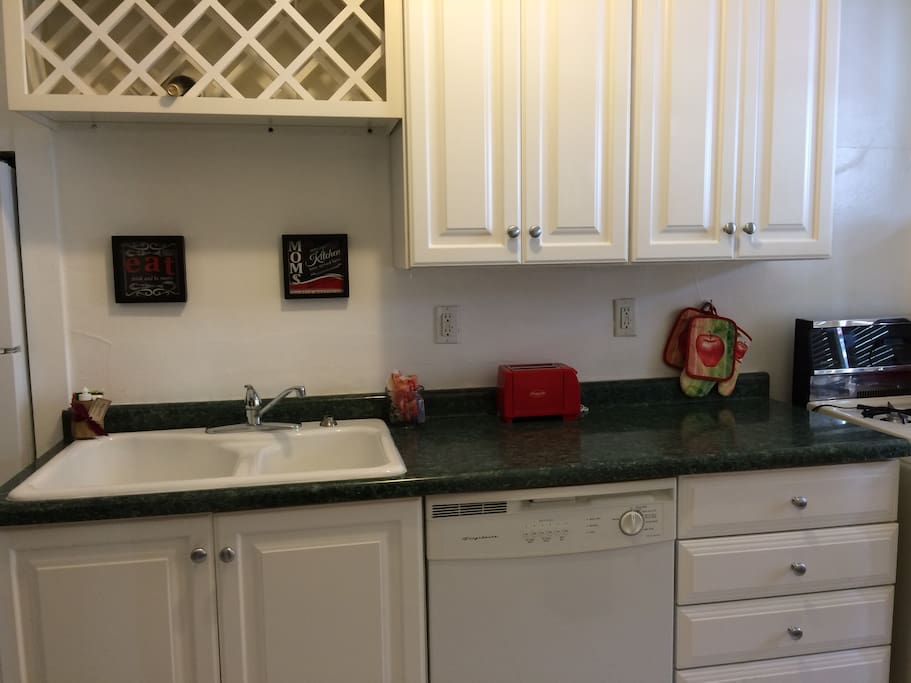 Kitchen includes dishwasher and gas stove