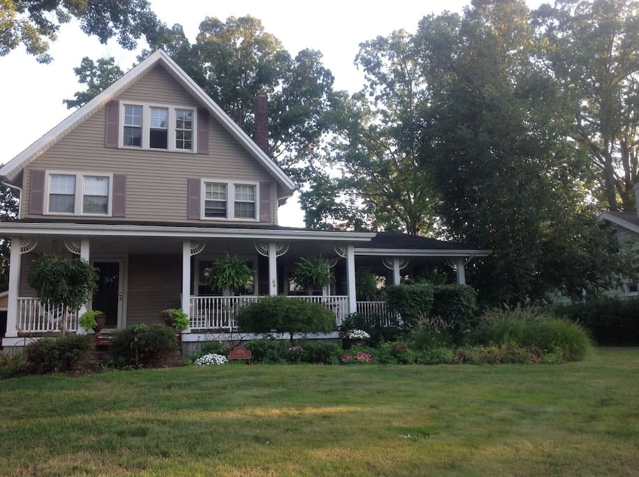 Double lot center hall colonial century home
