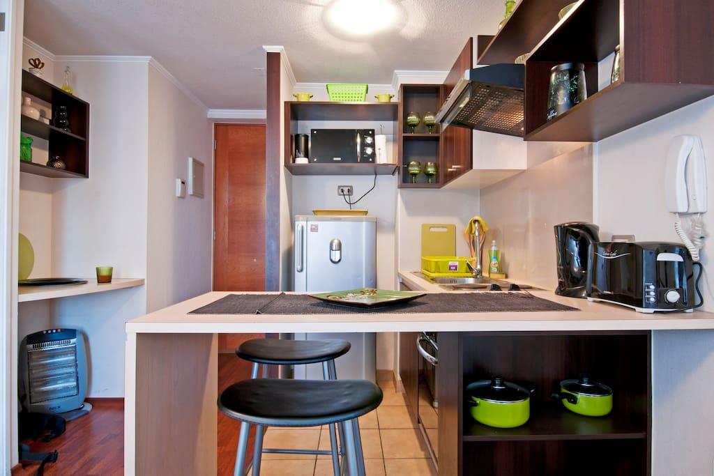 Cocina Full equipada para 2 /Full equipped kitchen for 2