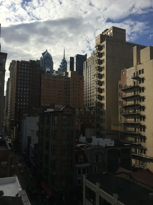 Living room view overlooking 13th Street