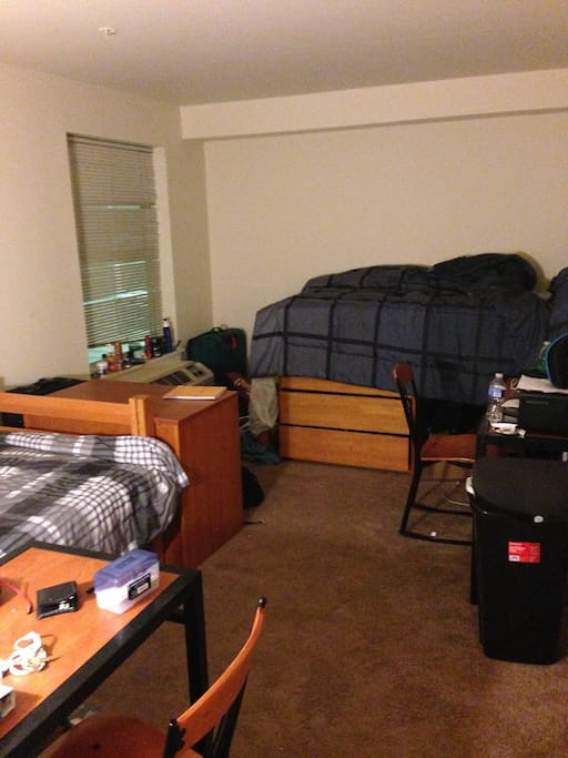 2nd Bedroom with 2 beds, 2 desks and closet space