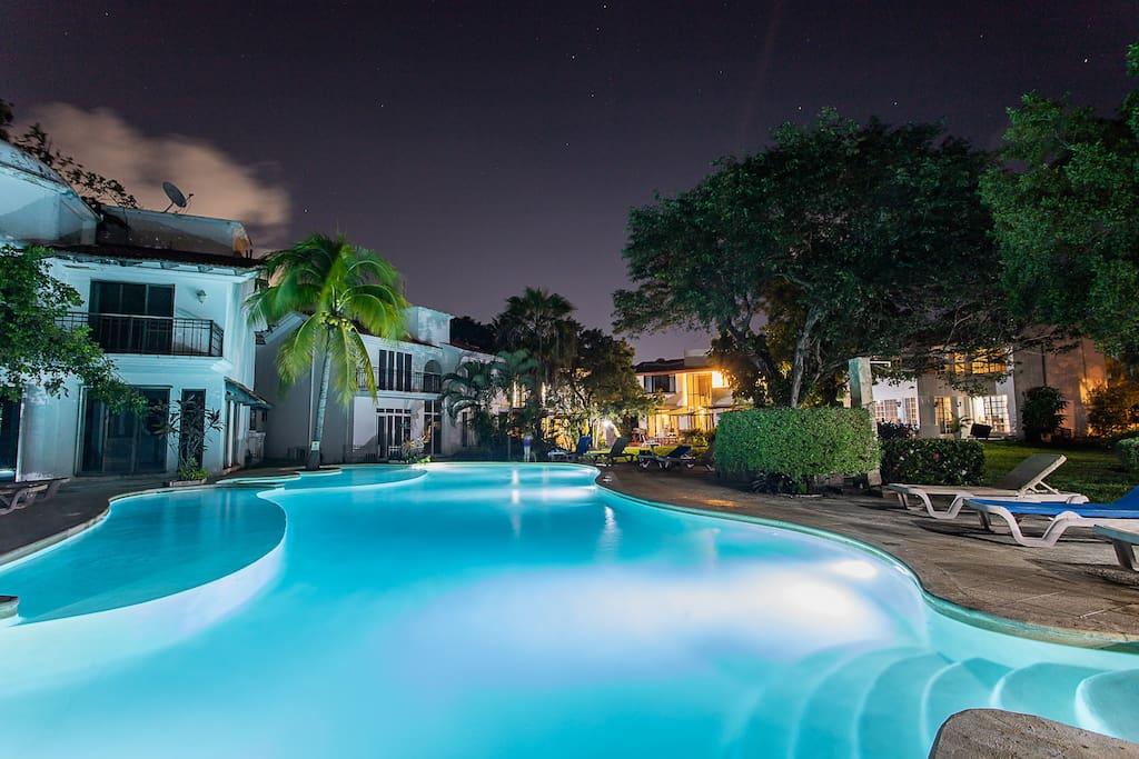 swimming pool in the condominium area