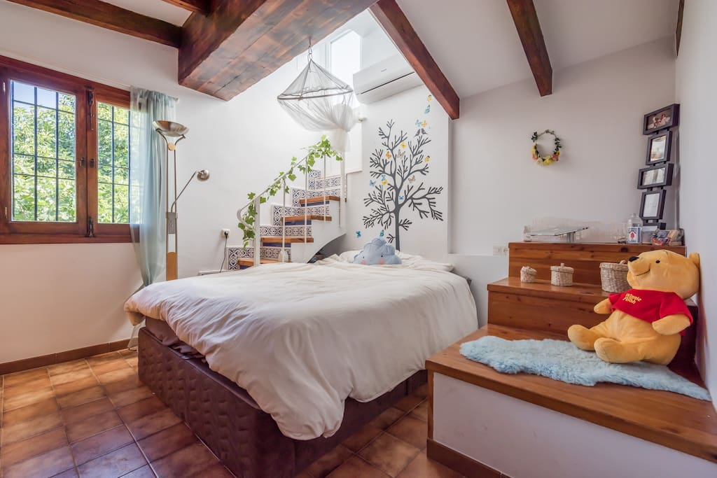 Room with Magical Staircase to Private Roof
