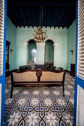 Original tiled floors throughout....