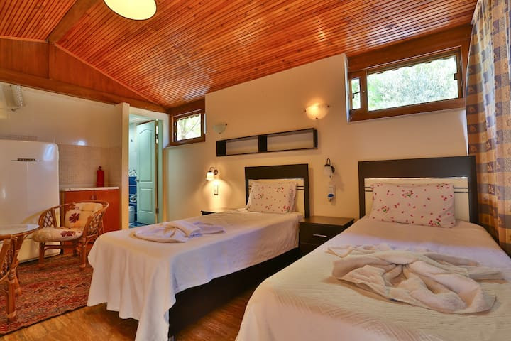Twin bedroom with swimming pool KAS - Kaş - 平房