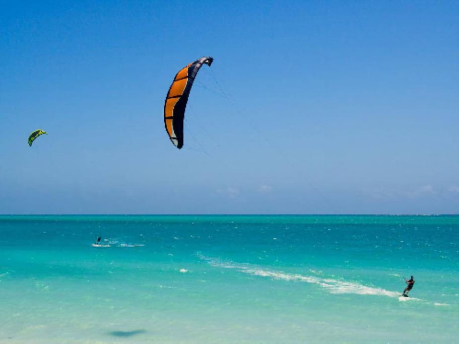 Ideal for kite surf