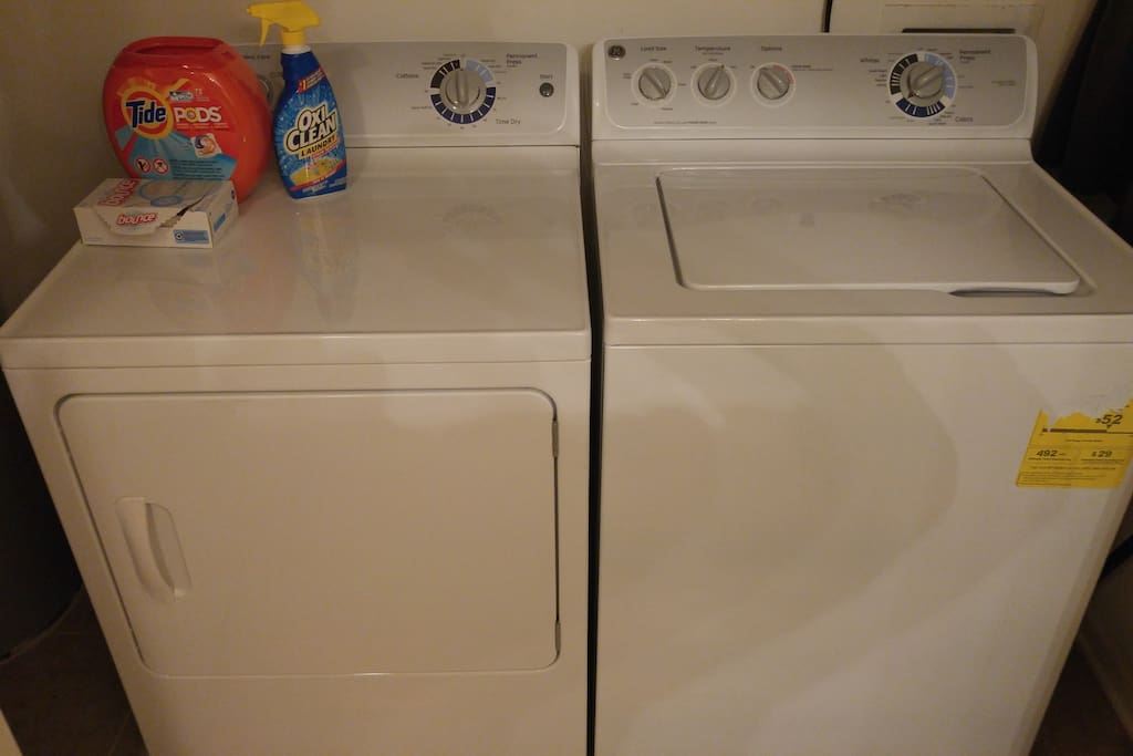 Do your laundry. Detergent is complimentary!