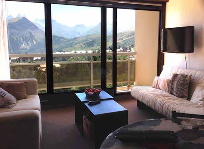 Appartement skis aux pieds, vue! - Fontcouverte-la-Toussuire - Apartemen