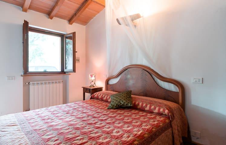 Ogni camera affaccia direttamente sul parco , fresca, semplice ed accogliente.