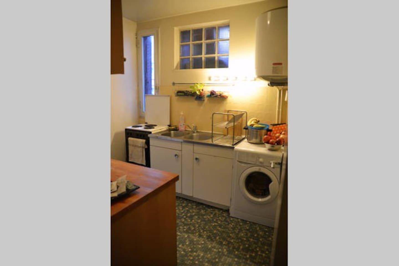 cuisine et machine à laver