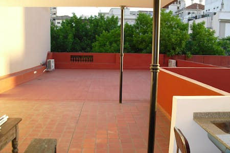 Spacious apt. with roof top terrace