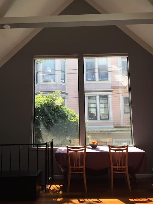 Huge south-facing windows for lots of light