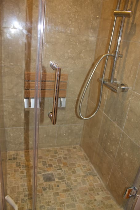 Newly remodeled spa shower.