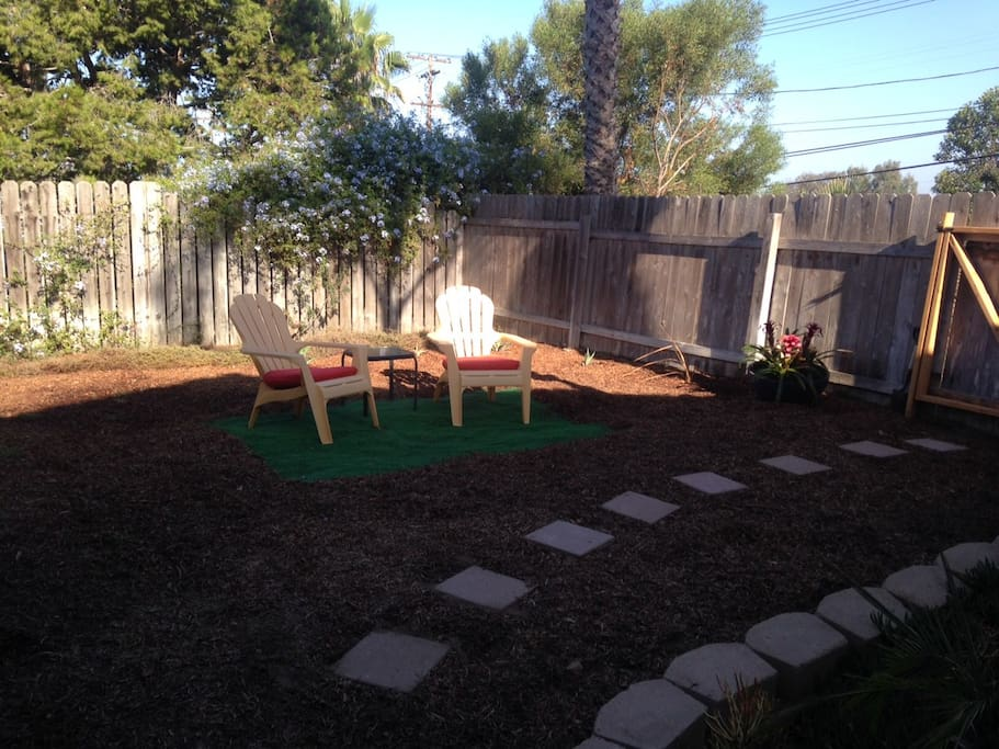 Private, Fenced Yard with Own Entry, Parking, and Deck with a Great View