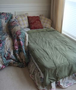 Twin-Sized Bed in Living Room