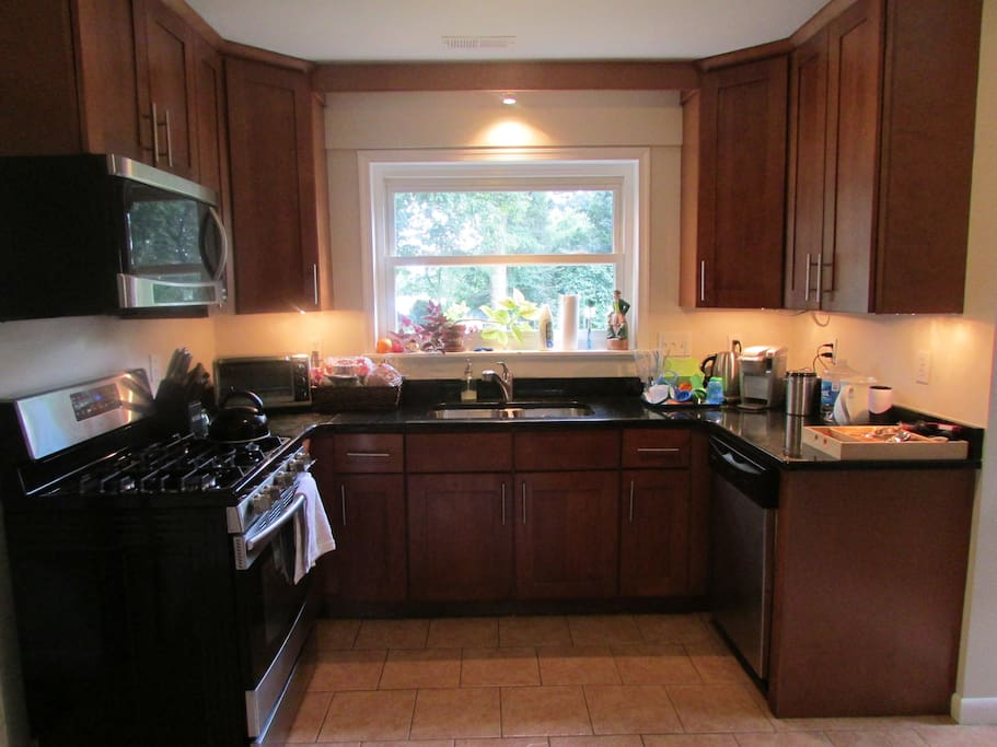 Recently-remodelled kitchen