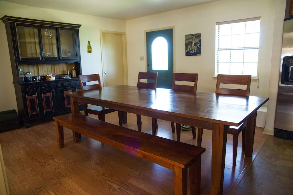 Farmhouse dining table.