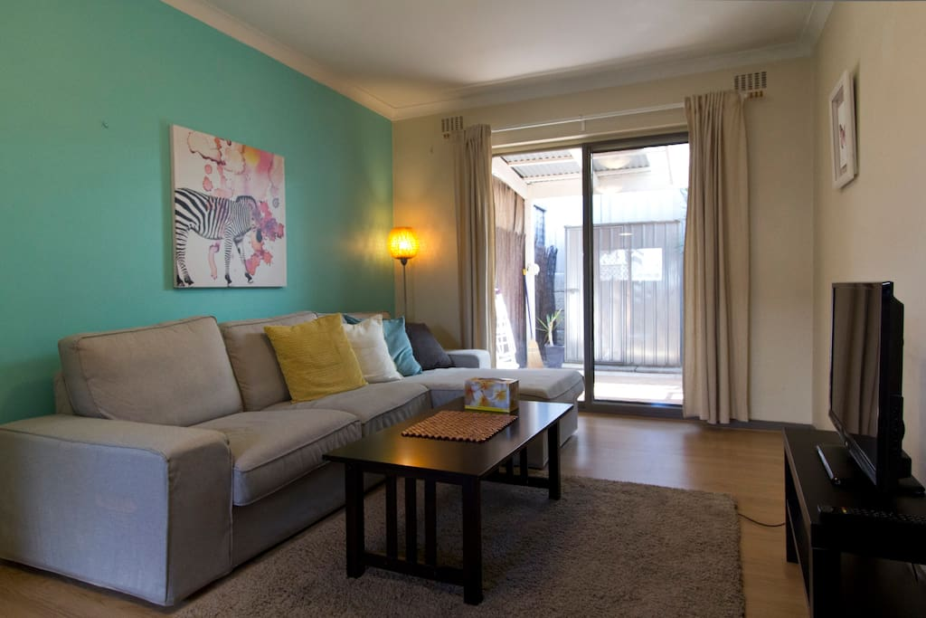 Cosy Lounge Area. Free unlimited wifi access available throughout the Apartment
