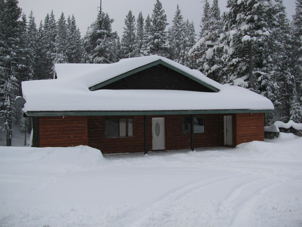 Cabin After First Snowfall