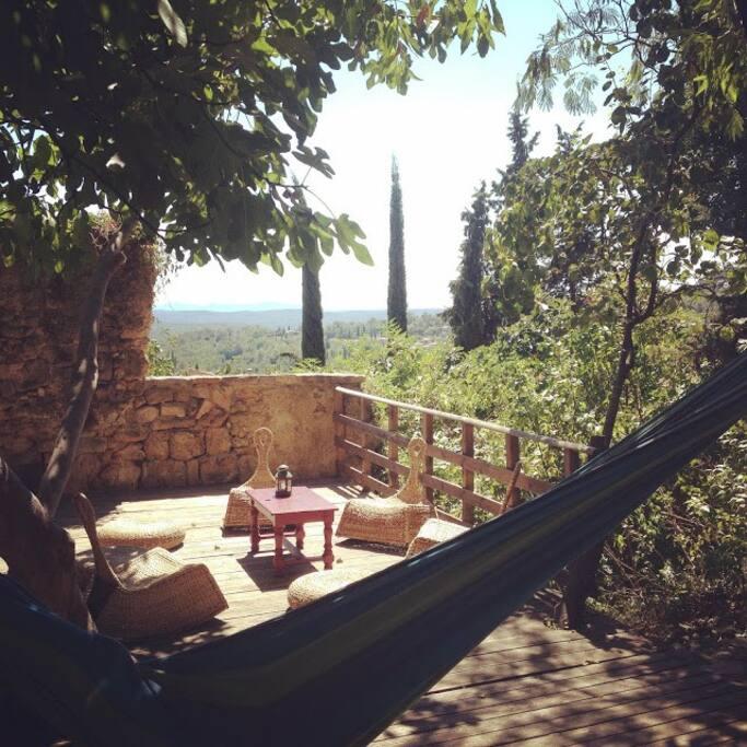 Terrasse Détente avec vue sur la provence
