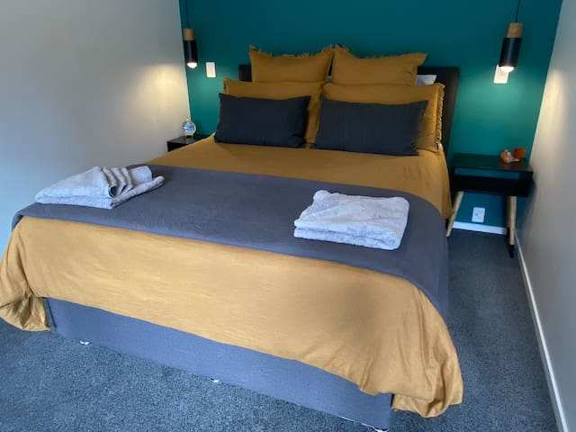 Second bedroom available for a booking of three or more guests.  If travelling as non-couples and require the room, please let's us know.