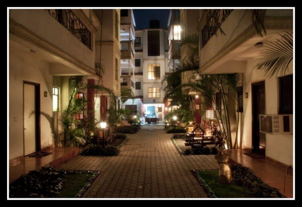 Magpie Apartments entrance view.
