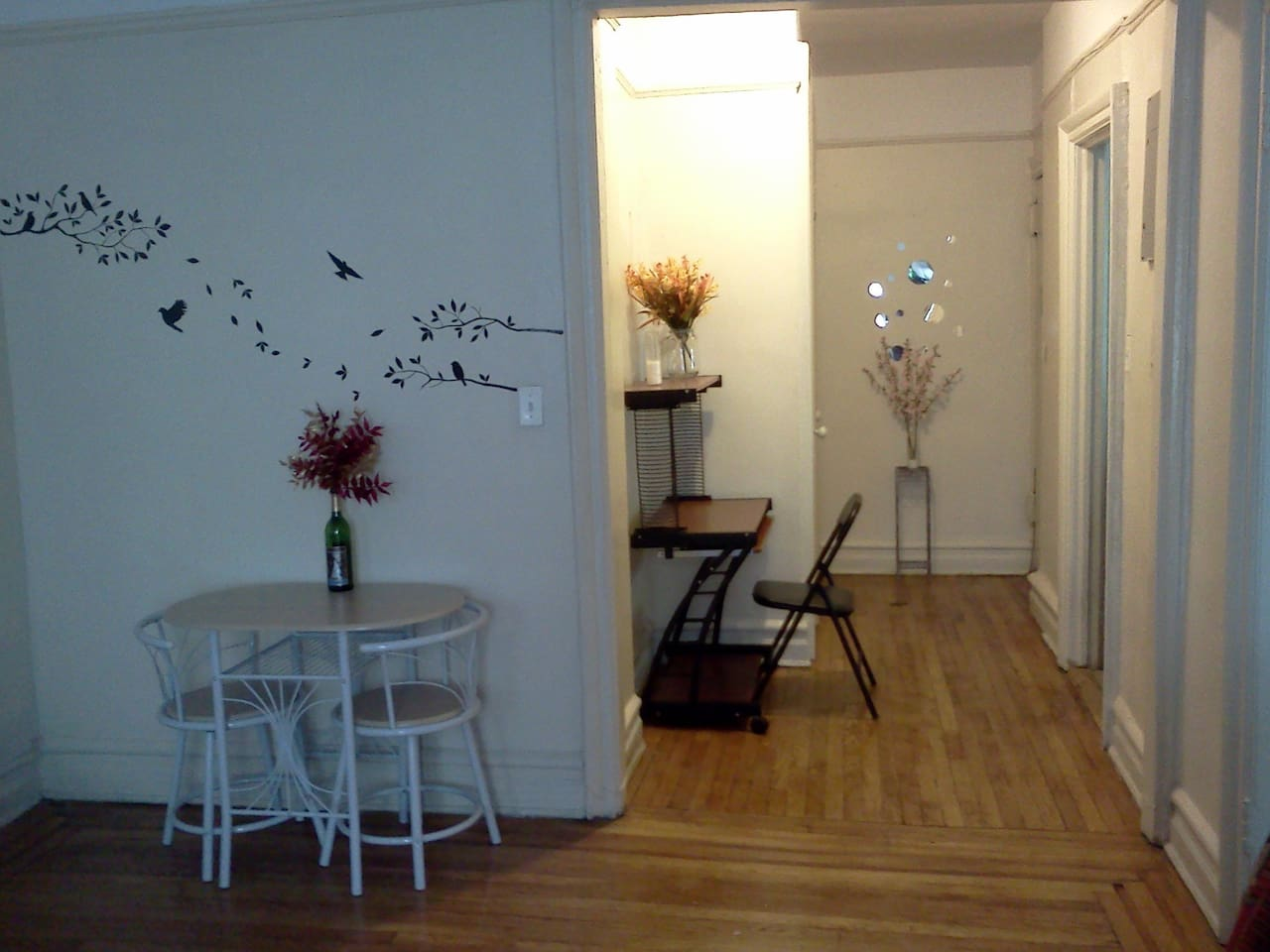 Entryway and part of living room