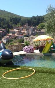 Cévennes maison plus studio avec piscine - Saint-André-de-Majencoules
