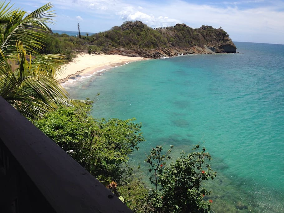 All views from this hideaway villa are paradise