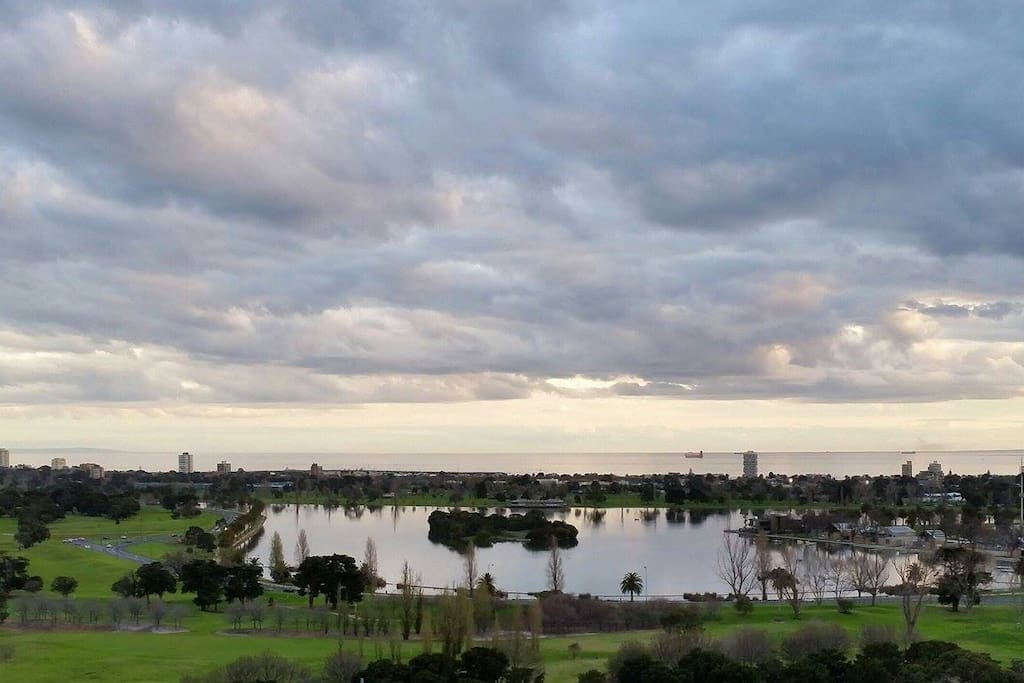 Fabulous View from the Sun Balcony (Albert Park Lake)