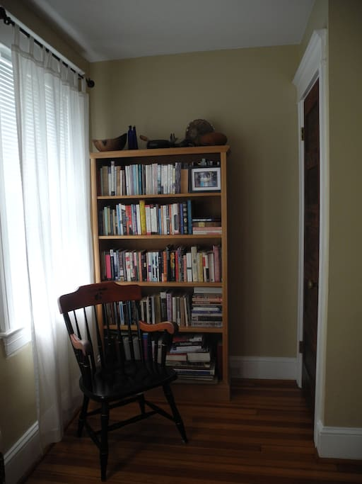 Reading nook in guest room.