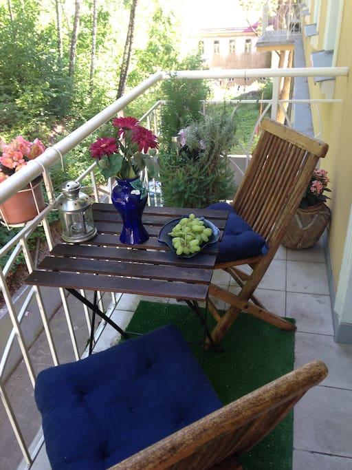 Sezení pro 2 na balkoně