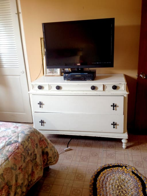 Spacious Dresser and Television