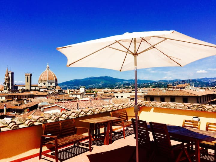 The ancient tower Florence penthouse 360° terrace