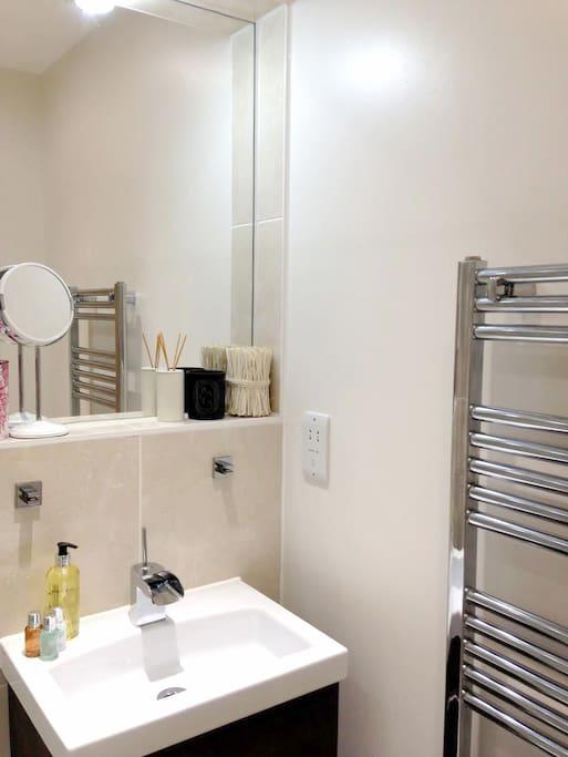 The en-suite bathroom which we stock with plenty of essentials