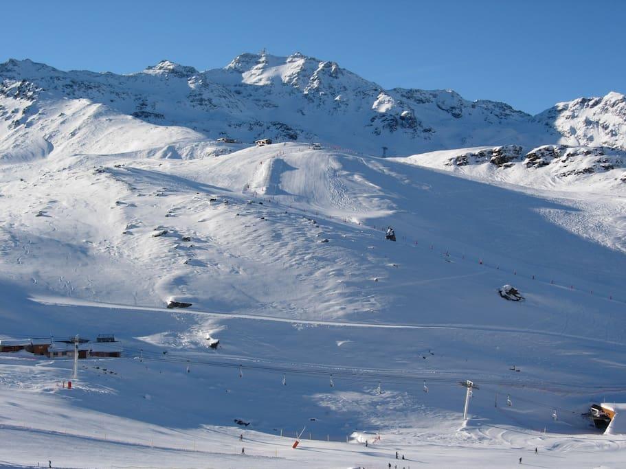 Vue montagne exceptionnelle face à la mythique Cîme de Caron !!! Fantastic view !