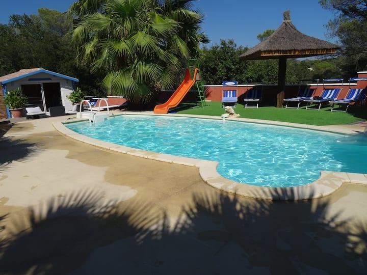 Logement confort piscine et spa privatif chauffés