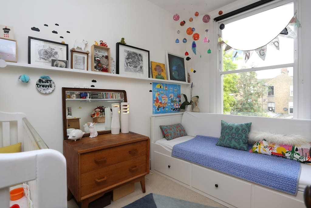 Second Bedroom with a convertible day bed
