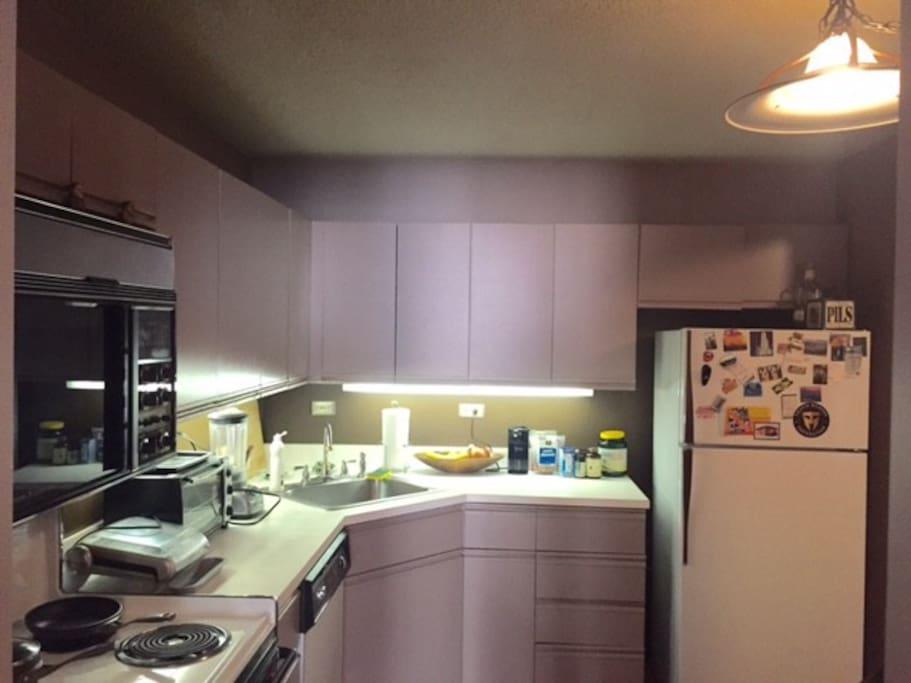 Full kitchen.  Full spice rack.